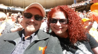 My wife Holly and myself at a UT football game.