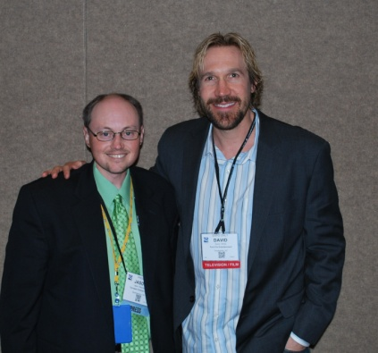 """Me with David A.R. White from Pure Flix Entertainment (""""God's Not Dead."""")"""
