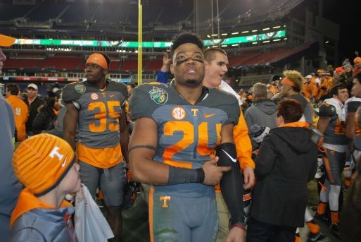 From my coverage of the 2017 Franklin American Mortgage Music City Bowl in Nashville between the Tennessee Vols and the Nebraska Cornhuskers.